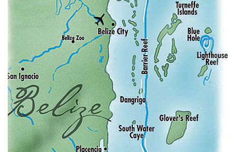 belize geographical map