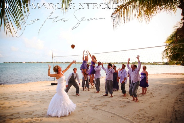 650 Bride Volleyball Chabil Mar Belize Resort