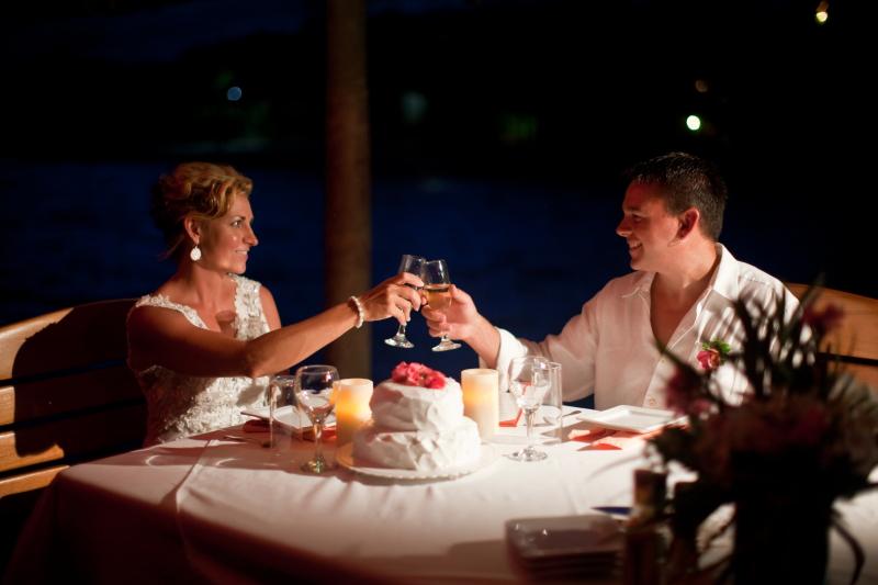 Pier dinner 2 Chabil Mar Resort Belize Wedding