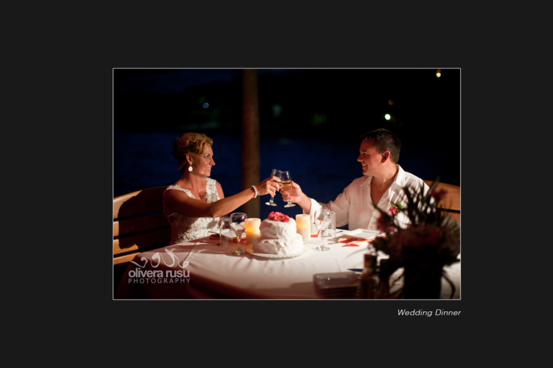 Pier dinner Chabil Mar Belize wedding
