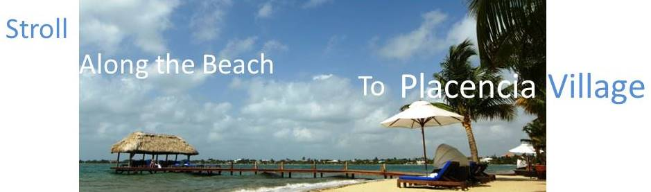 Stroll the Beach Banner Cropped Chabil Mar Resort Belize