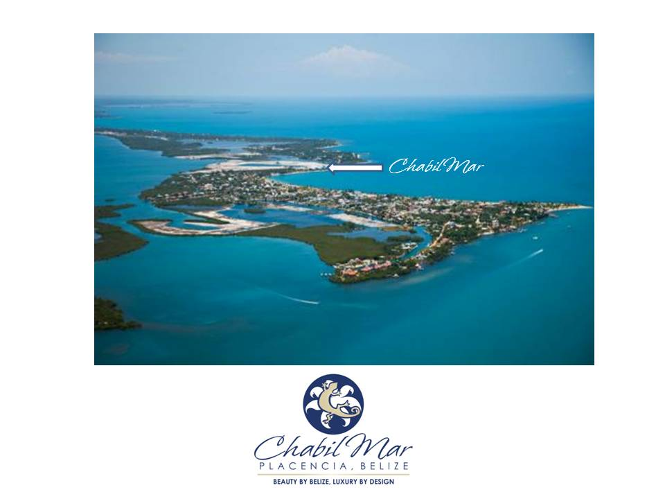 Placencia Village Aerial and Chabil Mar Belize Resort