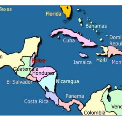MAPS - Chabil Mar's Premier Placencia Location - Placencia Village Aerial - Scuba Diving Sites Map