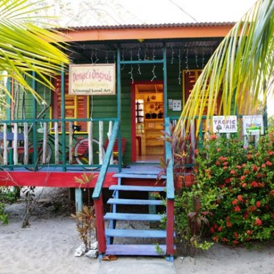 Gift Shops along the Placencia Village sidewalk