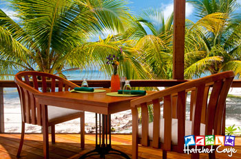 Beach Dining - Hatchet Caye