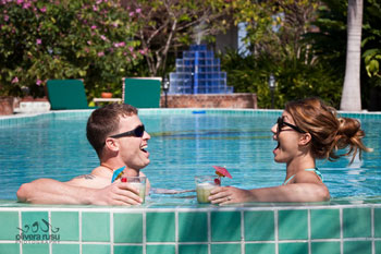 Honeymoon Couple in pool