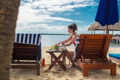 Dine While Relaxing with On-the-Beach Service