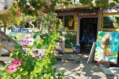 Art Shop along the Placencia sidewalk