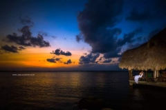 Sunset Over the Lagoon on the Placencia Peninsula