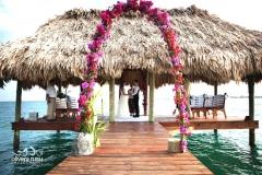 Wedding Ceremony on Pier at Chabil Mar