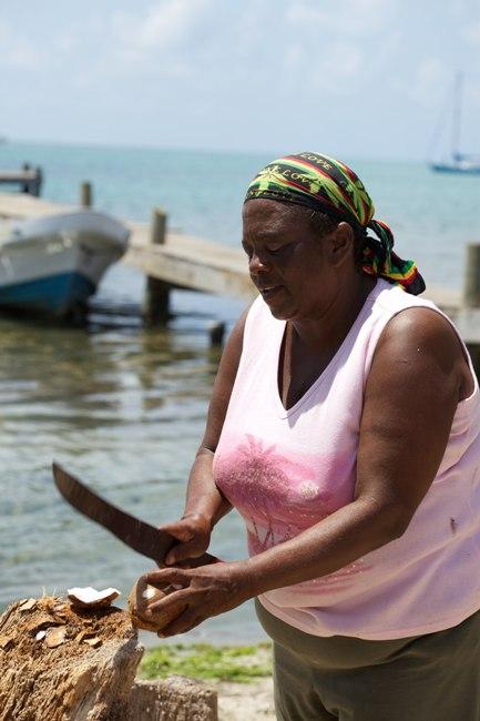 Fresh Coconut Chabil Mar Belize Resort